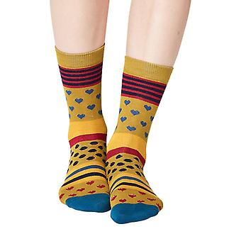 Juliet women's super-soft bamboo crew socks in lichen   By Thought
