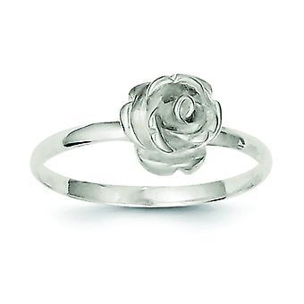 925 Sterling Silver 8mm Rose Ring - Taille de l'anneau: 6 à 8
