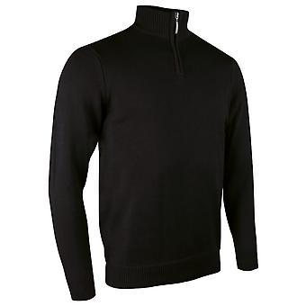 Glenmuir Mens Plain Zip Neck Cotton Golf Sweater/Jumper