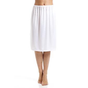 Camille White Half Length 24'' Womens Slip Cling Resistant