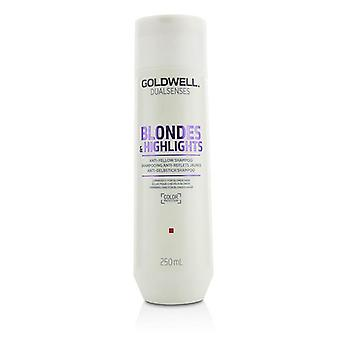 Goldwell Dual Senses Blondes & Highlights Anti-Yellow Shampoo (Luminosity For Blonde Hair) - 250ml/8.4oz