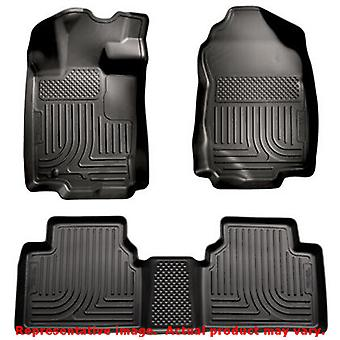 Husky Liners 98361 Black WeatherBeater Front & 2nd Seat FITS:FORD 2010 - 2012 F