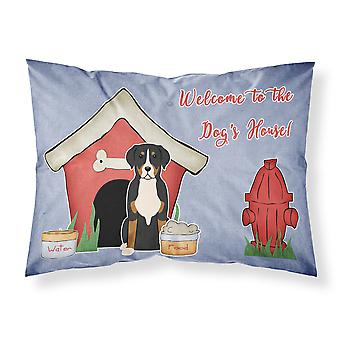 Dog House Collection Greater Swiss Mountain Dog Fabric Standard Pillowcase