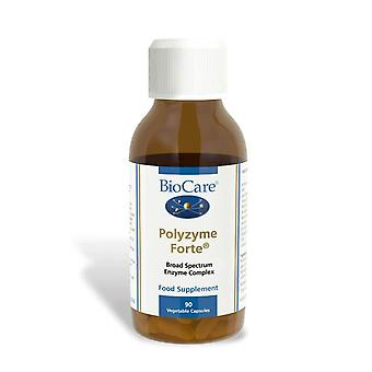 Biocare Polyzyme Forte (high potency broad spectrum digestive enzymes), 90 vegi capsules