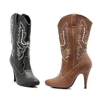 Ellie Shoes IS-E-418-Cowgirl 4 Heel Ankle Cowgirl Boot  Sz.  Black Sz 8