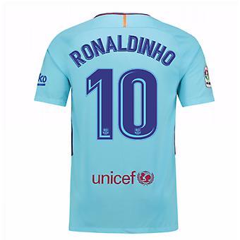 2017-2018 Barcelona Away Shirt (Ronaldinho 10) - Kids