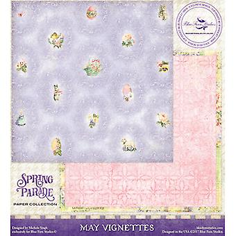 Blue Fern Spring Parade Double-Sided Cardstock 12