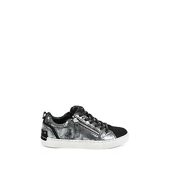 Kriminalitet London women's 2530125 sølv/sort læder sneakers