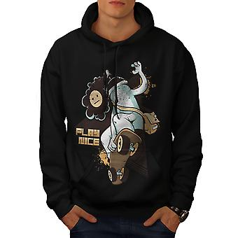 Play Nice Skate Fashion Men BlackHoodie | Wellcoda