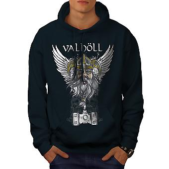 Valholl North War Men NavyHoodie | Wellcoda