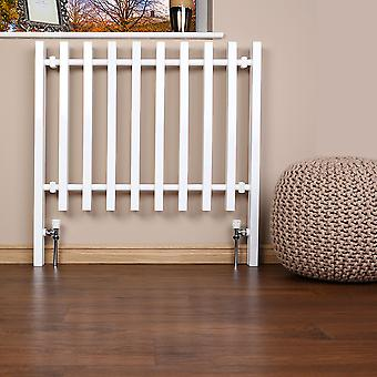 Heated Designer Cube Fence Feature Radiator - White - (H)800 x (W)1200mm