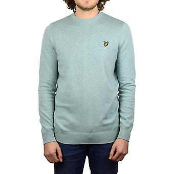 Lyle & Scott-girocollo cotone Merino Jumper (Powder Blue Marl)