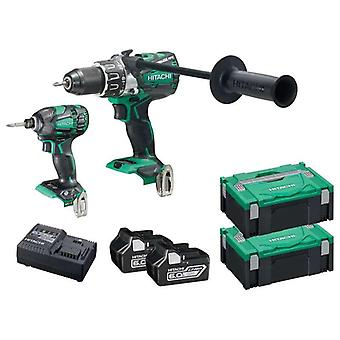 Hitachi KC18DPL2/JA 18v Cordless Twin Pack Brushless 2x6 Ah Batteries