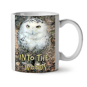 Into Wood Bird Owl NEW White Tea Coffee Ceramic Mug 11 oz | Wellcoda
