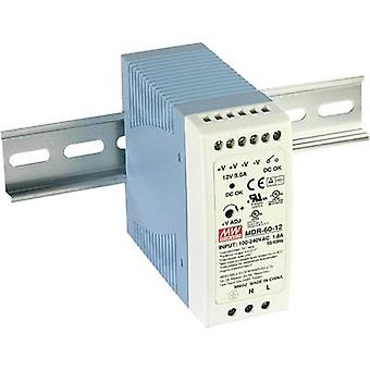 Rail mounted PSU (DIN) Mean Well MDR-60-12 12 Vdc 5 A 60 W 1 x