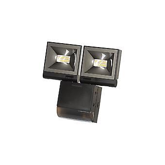 Timeguard Compact LED Energy Saving Floodlight, 20W LED With Motion Sensor, Black