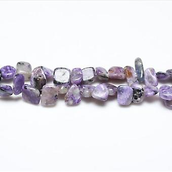 Strand 48+ Purple/Grey Charoite 8-12mm Drop-Style Chip Beads GS3248