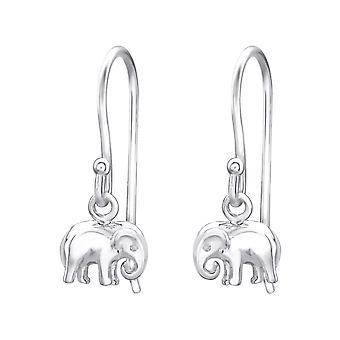 Elephant - 925 Sterling Silver Plain Earrings - W32156x