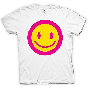 Kids t-skjorte - rosa smilefjes - syre barn