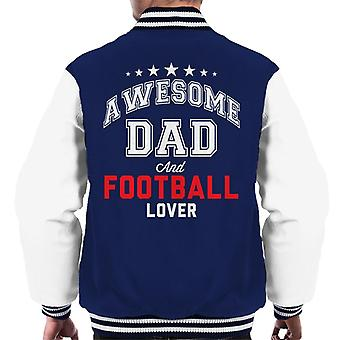 Awesome Dad And Football Lover Men's Varsity Jacket