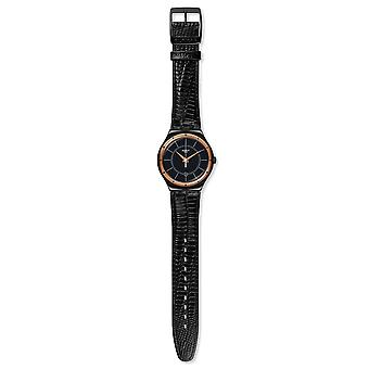 Swatch Black Nachtigall Unisex Watch YWB403