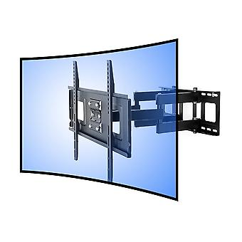 LEXIMOUNTS CR1 Curved Panel articulating TV Wall Mount Bracket-double arm tilt swivel feature for 32