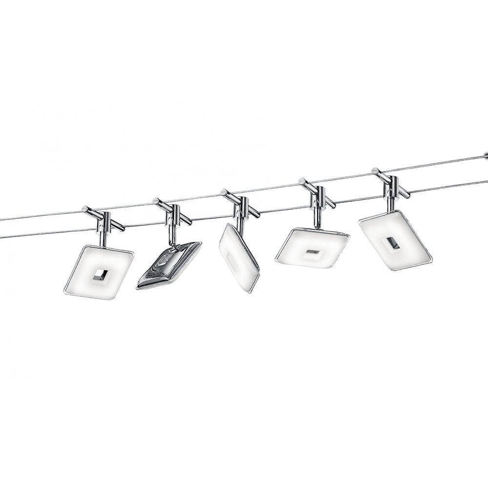 Trio lumièreing Pontius Modern Chrome Metal Spot