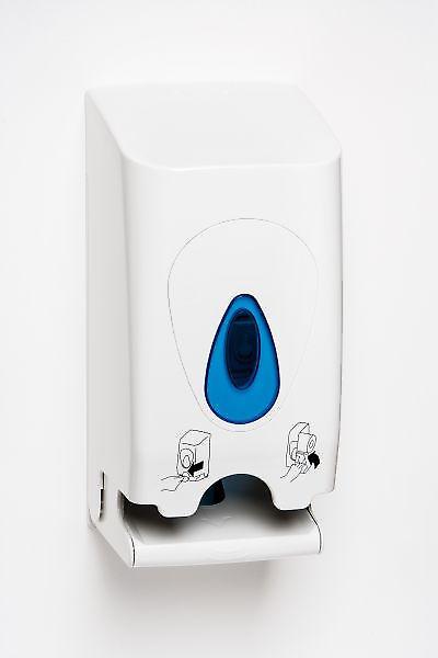 Intelligent Twin Toilet Roll Dispenser; Abs White Plastic