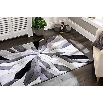 Splinter infinie Rectangle gris tapis tapis Funky