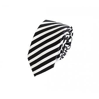 Tie tie tie tie 6cm black Fabio Farini white striped