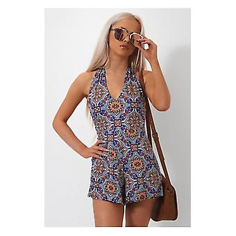 The Fashion Bible Taiga Bohemian Backless Playsuit