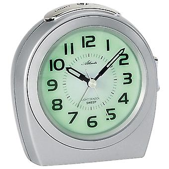 Alarm clock quartz creeping second light after wake-up function