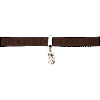 -Armband - UHU - 925 zilver - WENSEN - bruin dark - magnetische sluiting