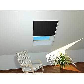 Sun roof window sheet 110 x 160 cm in white - pleated in black