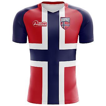 4dc51ef8a 2018-2019 Norway Flag Concept Football Shirt