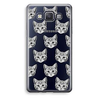 Samsung Galaxy A5 (2015) Transparent Case (Soft) - Kitten