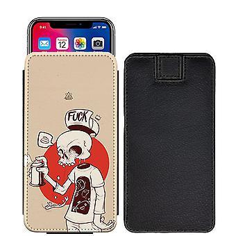 Schädel Custom entworfen gedruckt ziehen Tab Tasche Telefon Fall decken für Motorola Moto E3 [S] - skull34_web
