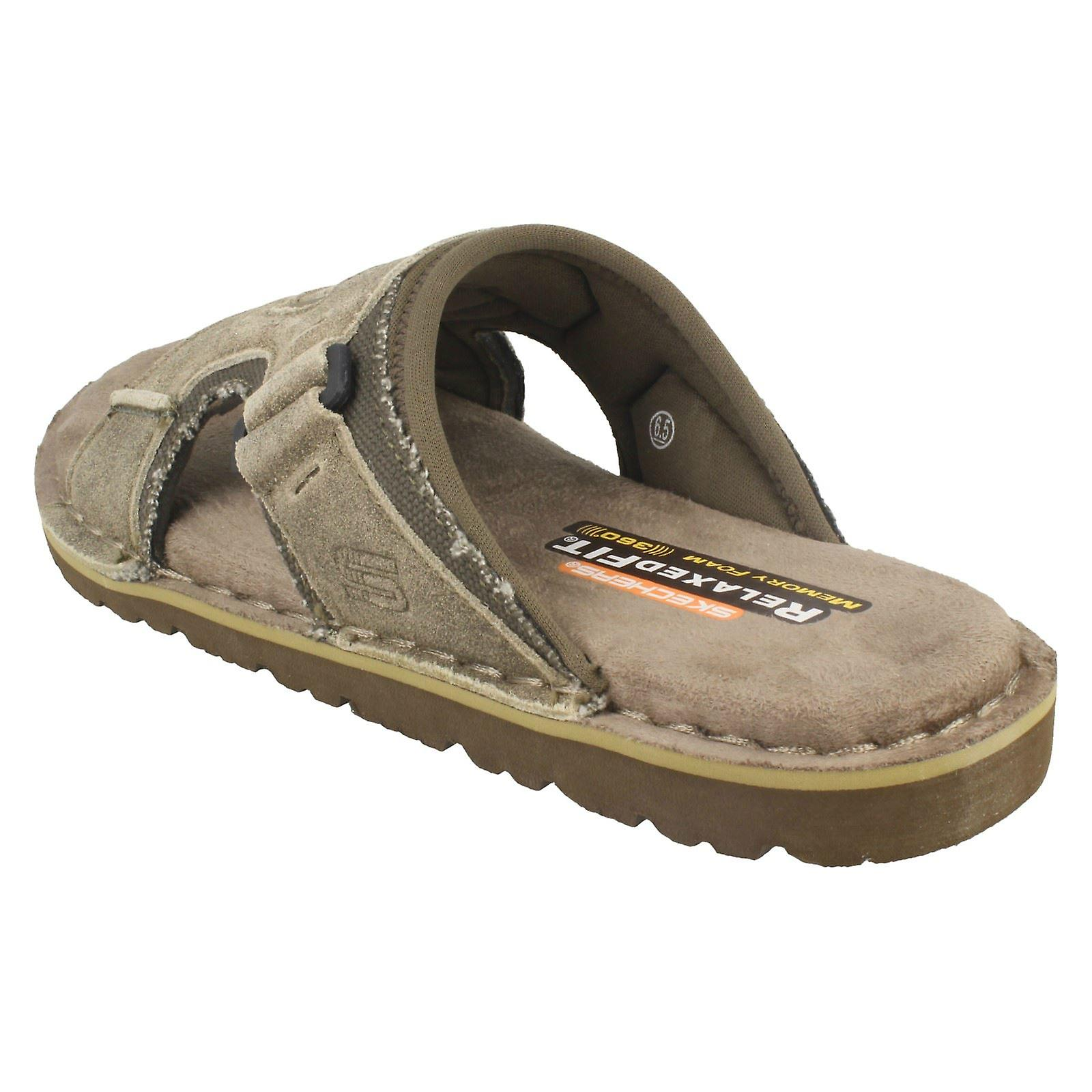 ffb6cd549ec8 Mens Skechers with Memory Foam Relaxed Fit Sandals Golson 64148