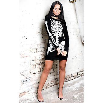 IKRUSH Womens Skeleton Fancy Dress