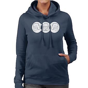 Original Stormtrooper Line Art Trio Women's Hooded Sweatshirt