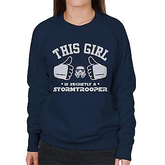 Stormtrooper original essa garota é secretamente um soldado camisola mulher