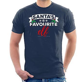 Santas elfe préféré Noël T-Shirt homme