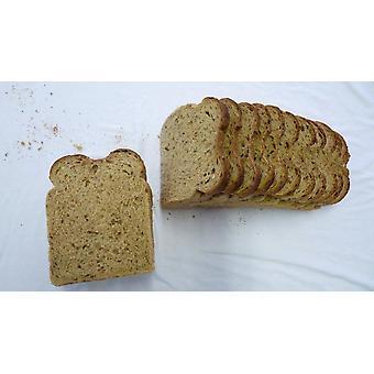 Fosters geschnittenen gemälzte braun Split Zinn Brote gefroren