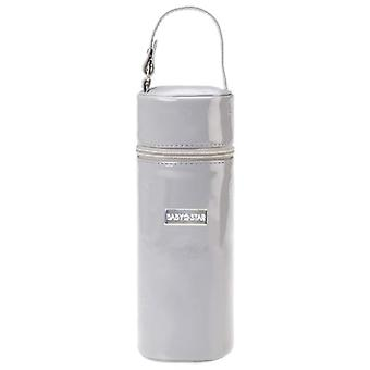 Baby Star Gray Patent leather bottle holder