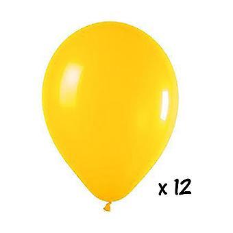 Ballon en de ballon accessoires 12 gele ballonnen