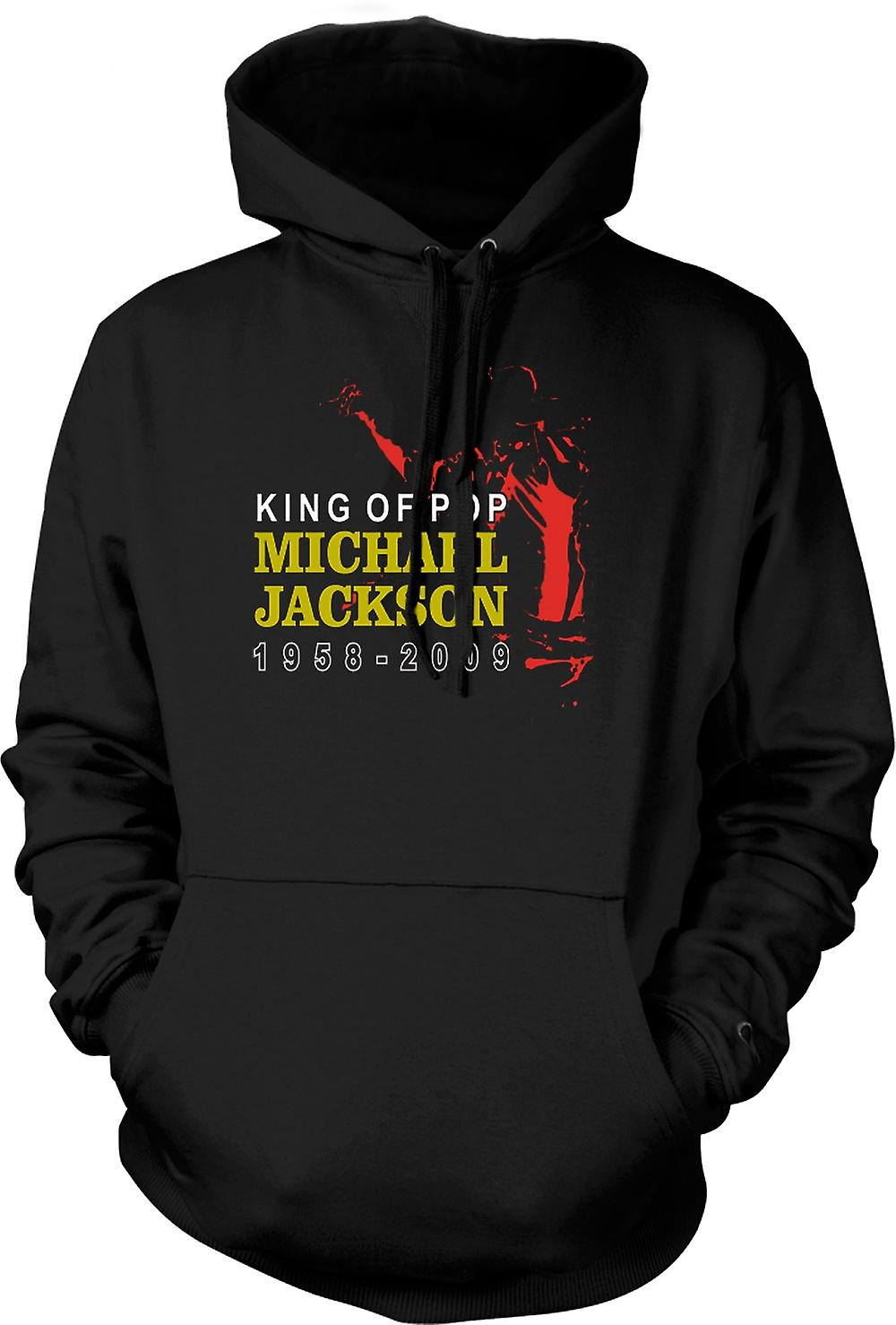 Mens Hoodie - Michael Jackson King Of Pop - New