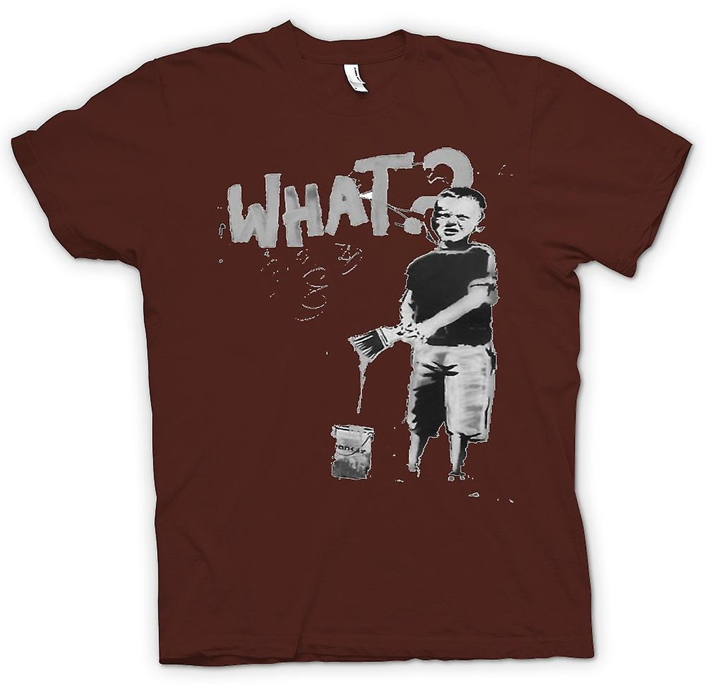 Mens T-shirt - Banksy Graffiti Art - What
