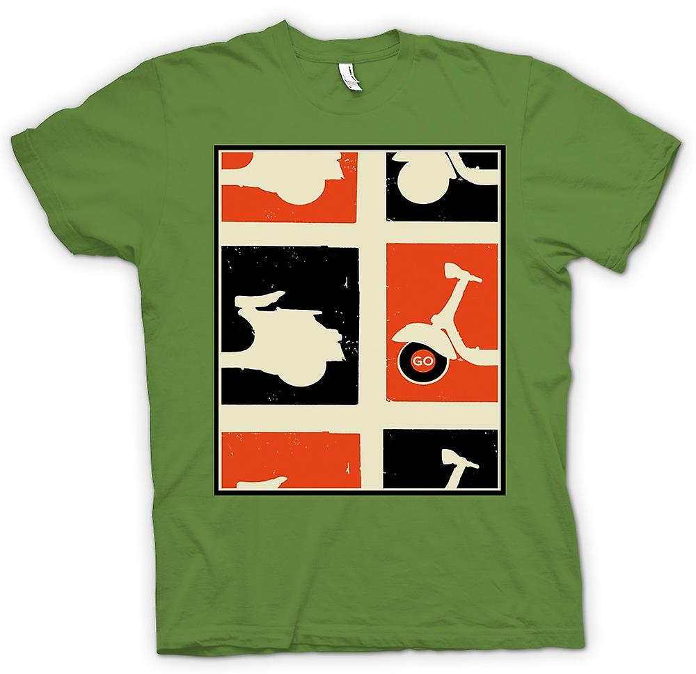 Hommes T-shirt - Vespa Scooter - Pop Art Poster Go