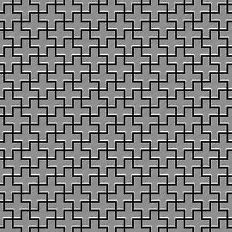 Mosaico de metal sólido Acero inoxidable ALLOY Swiss-Cross-S-S-B