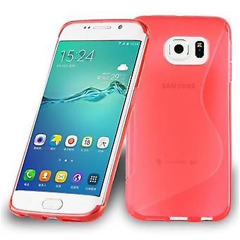 Cadorabo Hülle für Samsung Galaxy S6 EDGE - Handyhülle aus flexiblem TPU Silikon im S-Line Design - Silikonhülle Schutzhülle Soft Back Cover Case Bumper